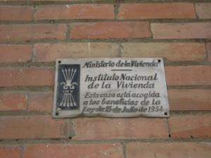 Placa franquista, Ministerio Vivienda